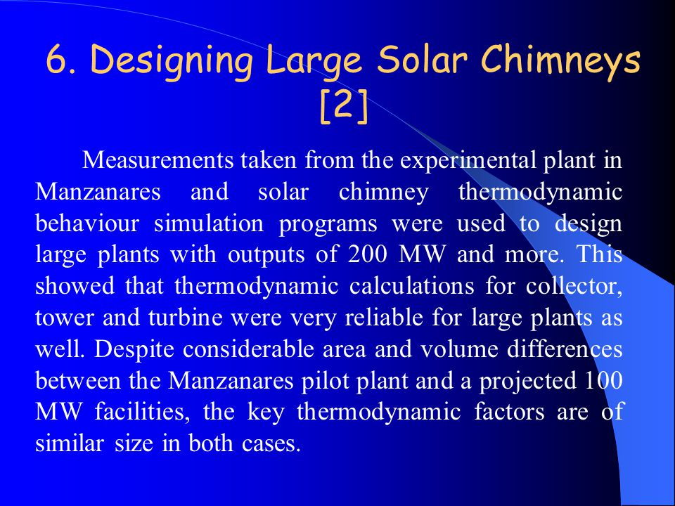 6. Designing Large Solar Chimneys [2]